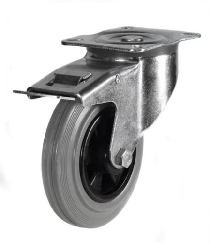 Braked castors 200mm wheel diameter upto 205kg capacity