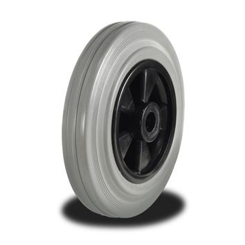 125mm Wheel with Non Marking Rubber on Nylon Centre 100Kg Capacity