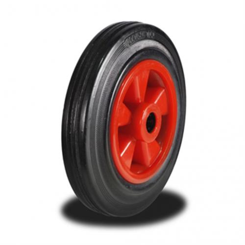 125mm Wheel with Rubber on Nylon Centre 100Kg Capacity