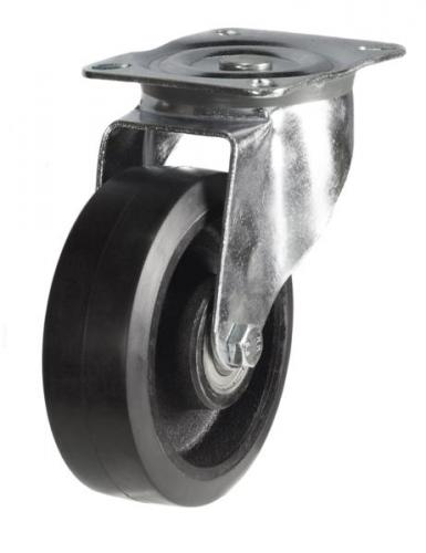 200mm medium duty swivel castor rubber cast iron wheel