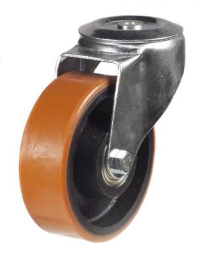 M12 Bolt Hole castor 100mm wheel diameter upto 220kg capacity