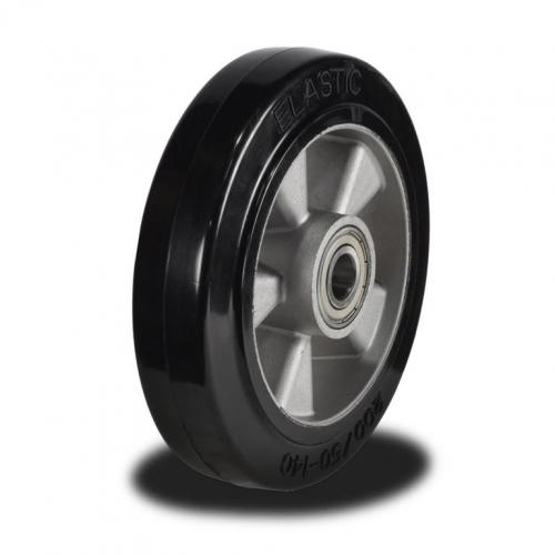 200mm  Wheel with Elastic Rubber on an Aluminium Centre 450Kg Capacity