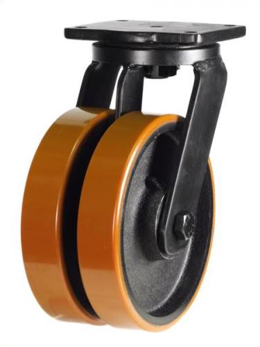 Swivel castors 200mm wheel diameter upto 2000kg capacity