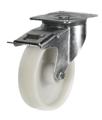 Braked castors 100mm wheel diameter upto 200kg capacity