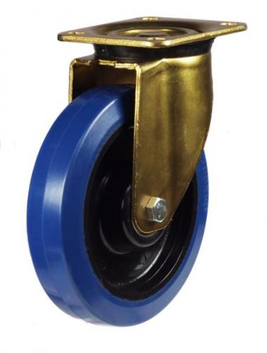 160mm Heavy Duty Rubber on Nylon Swivel castors - 350kg capacity