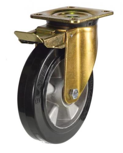 Braked castors 160mm wheel diameter upto 350kg capacity