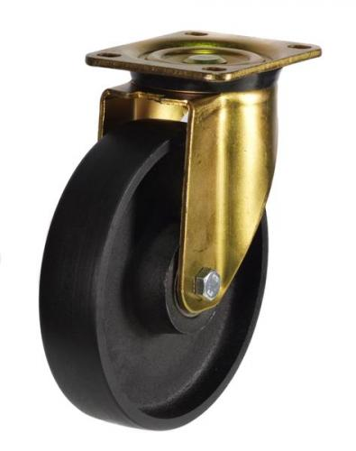 200mm Heavy Duty Rubber on Aluminium Swivel castors - 450kg capacity