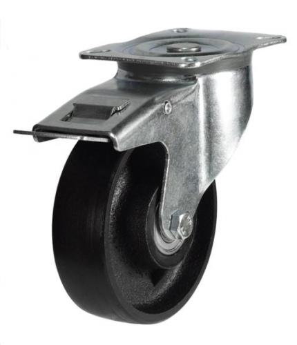 Braked castor 100mm wheel diameter upto 200kg capacity