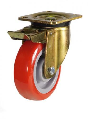 Braked castors 200mm wheel diameter upto 430kg capacity