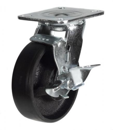Braked castors 100mm wheel diameter upto 380kg capacity