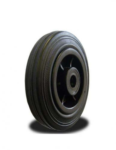 80mm Wheel with Rubber on Nylon Centre 65Kg Capacity