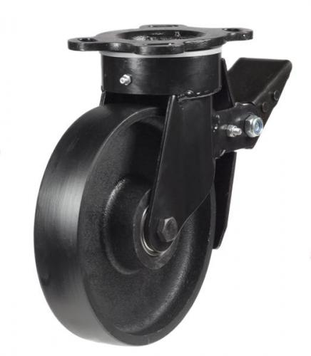 Braked castors 200mm wheel diameter upto 1000kg capacity