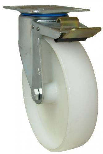 Braked castor 200mm wheel diameter upto 250kg capacity