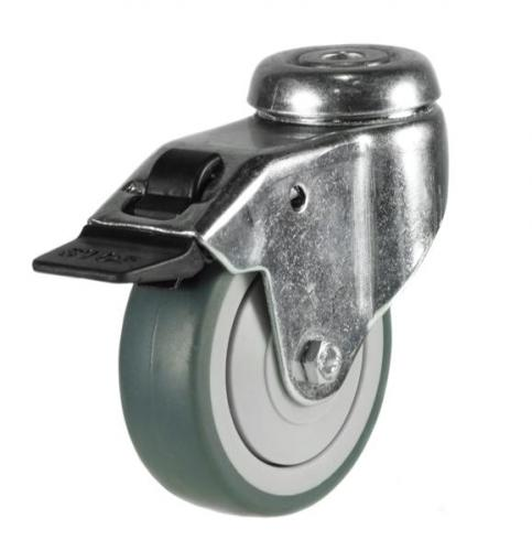 M10 Bolt Braked castors 50mm wheel diameter upto 40kg capacity