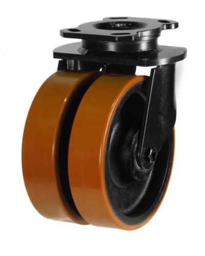Swivel castor 200mm wheel diameter upto 1500kg capacity