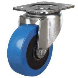 100mm Elastic Polyurthane On Nylon Centre Swivel Castors