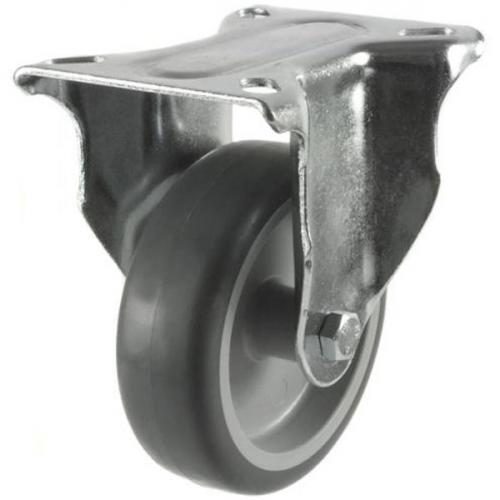 100mm Light Duty Rubber on Plastic Fixed castors - 80kg capacity