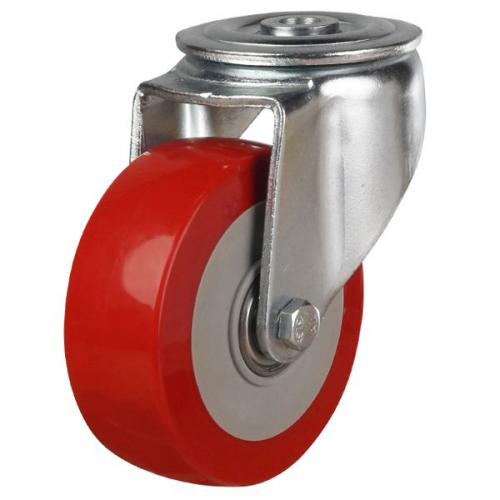 100mm Polyurethane On Nylon Centre Swivel Castors