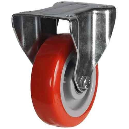 100mm Medium Duty Polyurethane On Nylon Fixed Castors
