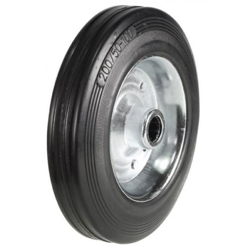 100mm Wheel with Rubber on Steel Disk Centre 80Kg Capacity