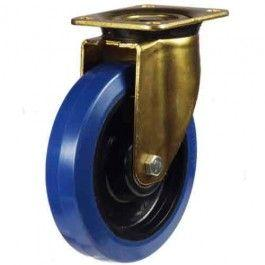 125mm Elastic Non-Marking Rubber On Nylon Centre Swivel Castors