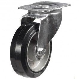 125mm Elastic Rubber On Aluminium Centre Swivel Castors