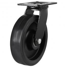125mm Elastic Rubber On Cast Iron Core Swivel Castors