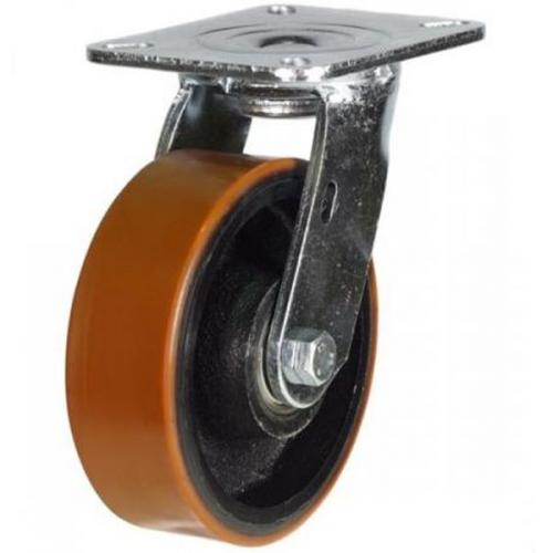 125mm Heavy Duty Polyurethane on Cast Iron Swivel castors - 500kg capacity