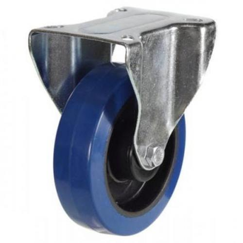 125mm Medium Duty Rubber on Nylon Fixed castors - 250kg capacity