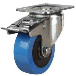 125mm Polyurethane On Nylon Braked Castors