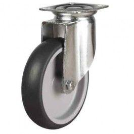 125mm Synthetic Non-Marking Rubber Swivel Castors
