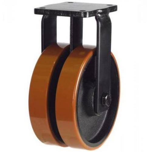 150mm Heavy Duty Poly Nylon Twin Wheel Fixed castors - 1500kg capacity