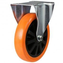 150mm Polyurethane On Cast Iron Core Fixed Castors