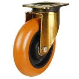 150mm Round Profile Polyurethane On Cast Iron Core Swivel Castors
