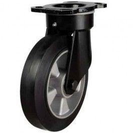 160mm Elastic Rubber On Aluminium Centre Heavy Duty Swivel Castors