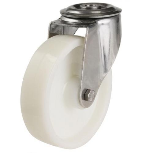 160mm Light Duty Nylon Bolt Hole Castors - 350kg capacity