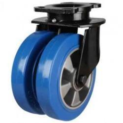 200mm Elastic Polyurethane On Aluminium Centre 80 Shore A Swivel Castors
