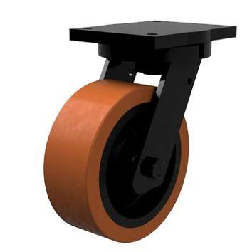 200mm Extra Heavy Duty Polyurethane On Cast Iron Core Swivel Castors