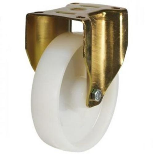 200mm Heavy Duty Nylon Fixed castors - 800kg capacity