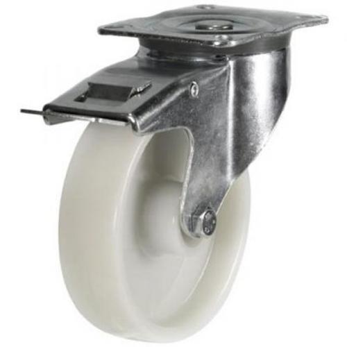 Braked castors 125mm wheel diameter upto 300kg capacity