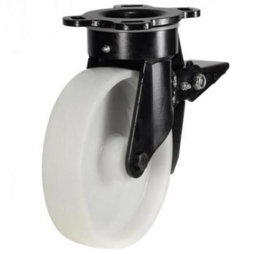 Heavy Duty Braked castors 125mm wheel diameter upto 350kg capacity