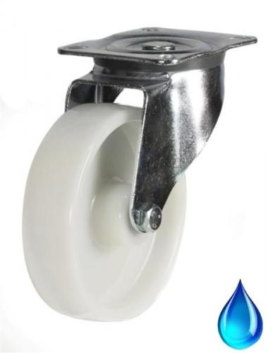 Stainless Steel, Swivel castors 100mm wheel diameter upto 200kg capacity