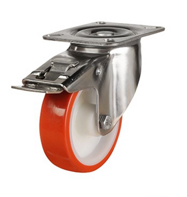 DR Series; Pressed Steel/Poly Nylon castors