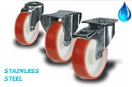 Stainless Steel with Polyurethane wheels