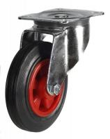 DR Series; Pressed Steel/Black Rubber castors