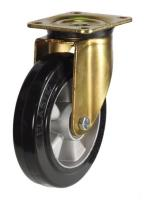 GDH Series; Pressed Steel Heavy Duty/Black Rubber castors