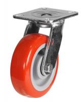 LMH Series; Medium Duty Fabricated Steel /Poly Nylon Wheel Castor