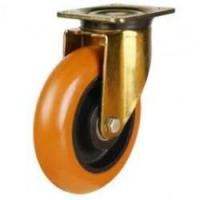 GDHPTRP Series; Heavy Duty Round Profile Polyurethane on Cast Iron Centre Castors