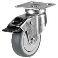 GD/TPR Grey Rubber Light Duty Castors