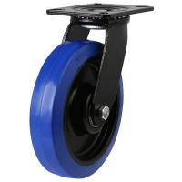 LMHBBN Heavy Duty Elastic Non-Marking Blue Rubber Castors with Nylon Centre